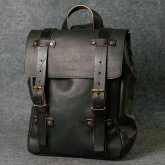 Мужской рюкзак HANKLE H1 |13207| Черный + Кофе