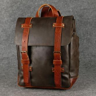 Мужской рюкзак HANKLE H1 |13209| Шоколад + Коньяк