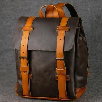 Мужской рюкзак HANKLE H1 |13212| Шоколад + Янтарь