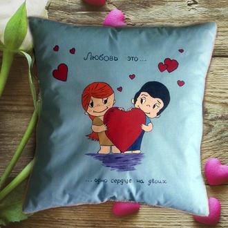 Детские подушки с ручной росписью