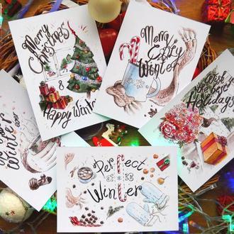 Новогодняя открытка! листовка поздравление!
