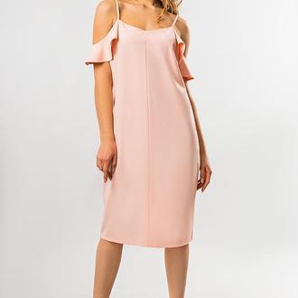 Персиковое Платье С Крылышками