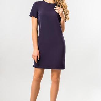 Прямое Платье Темно-Синего Цвета