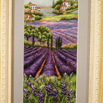 Ручная вышивка Anchor Provence Lavander Scape 28х48 лавандовое поле