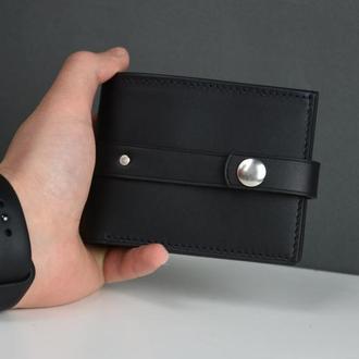 Мужской кожаный портмоне, Кожаный портмоне для мужчины, Кожаный портмоне под заказ, именной портмоне