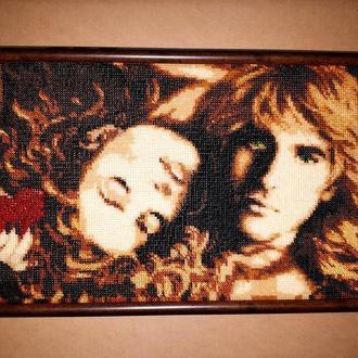 """Вышитая картина бисером """"Двое влюбленных"""""""