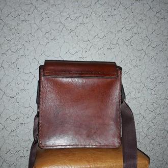 Мужская сумка-планшет из толстой кожи