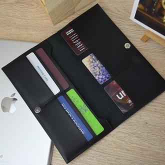 Кожаный купюрник, Мужской кожаный кошелек, мужской кожаный портмоне, кожаный кошелек под заказ