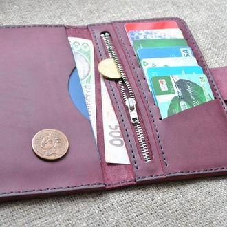 Стильный кожаный кошелек из натуральной кожи K65-800