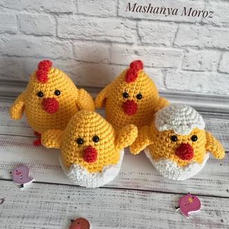 Цыплята (амигуруми)