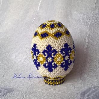 яйцо оплетен бисером