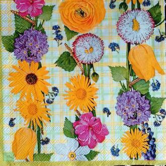 Салфетка для декупажа 33 х 33 Цветочный мотив
