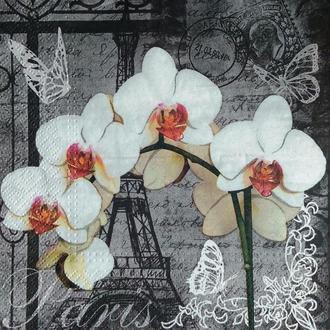 Салфетка для декупажа 33 х 33 Орхидея