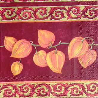 Салфетка для декупажа 33 х 33 Цветок Физалис Франше