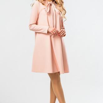 Персиковое Платье С Завязками