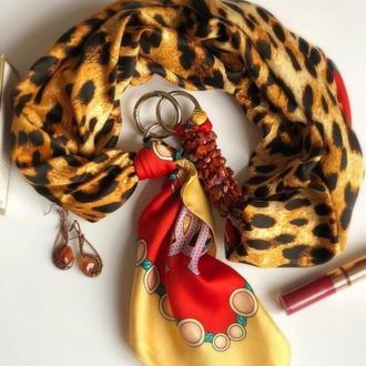 """""""Африканский шелк"""" атласный платок, шелковый шарф, шарф ожерелье"""