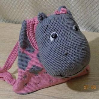 Детский рюкзак с игрушкой-декором