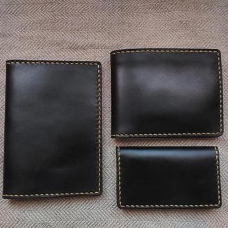 Комплект: кошелек, холдер под документы, визитница.