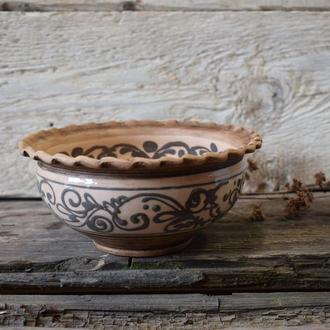 Керамічна тарілка для перших страв