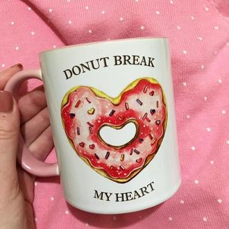 Чашка с авторским принтом «Пончик»