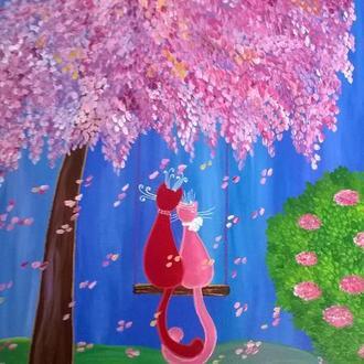 """Картина писаная на холсте с подрамником из серии """"Оттенки счастья"""" - """"Цвета нежности"""""""