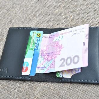 Маленький кошелек из черной кожи KAR02-0