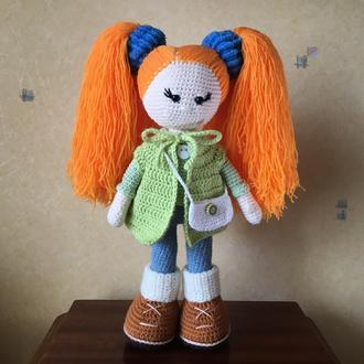 Вязаная кукла «Миранда».