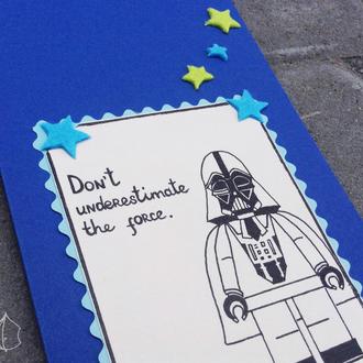 Открытка ручной работы Дарт Вейдер Звездные войны