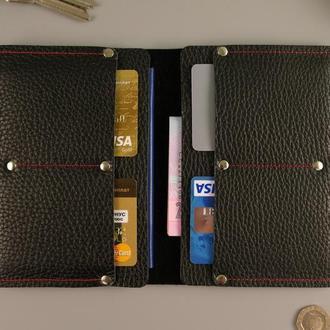 Чехол обложка travel для паспорта автодокументов натуральная кожа