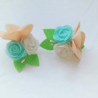 Резиночки-цветочки из фетра