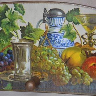 Вешалка-панно для кухни Винный натюрморт