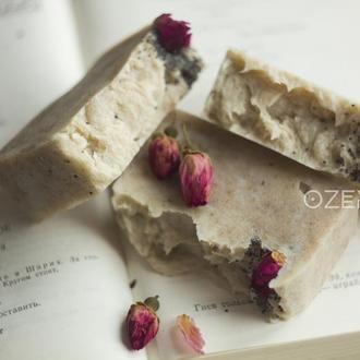 Мыло с розовой и красной глиной