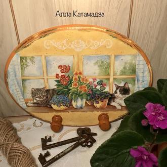 Вешалка для кухонных полотенец «Летом у бабушки»