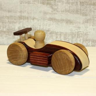 Машинка деревянная Гонка
