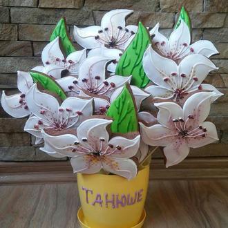 букет пряников лилии