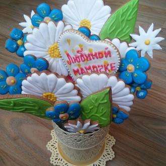 букет пряников полевые цветы