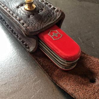 Кожаный чехол для складного ножа (мультитула )