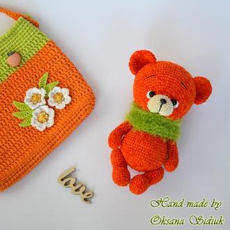 В'язаний ведмедик Апельсин
