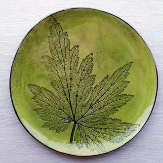 """Керамическая тарелка (диаметр 26 см) коллекция """"Листья"""""""