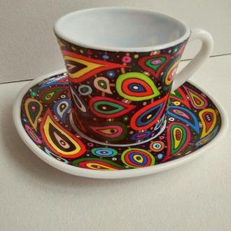 """Набор """"Космос"""" Чашка с блюдцем стеклокерамика 190 мл"""