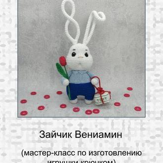 "Мастер-класс по вязанию игрушки ""Зайчик Вениамин"""