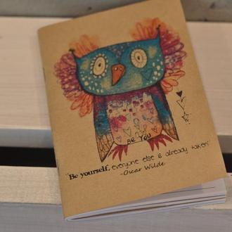 """Скетчбук, блокнот для рисования и записей """"Сова"""" А6"""