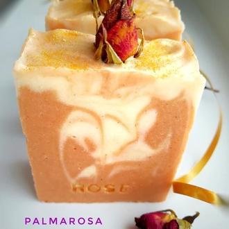 Ароматное мыло-детокс с нуля «Пальмароза».