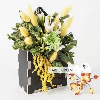 """Экоконвертик из стабилизированных растений и цветов """"Yellow mood"""""""