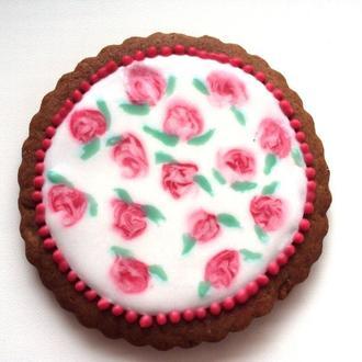 """Подарочное печенье """"Ситцевые цветочки"""""""
