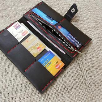 Женский кожаный кошелек портмоне клатч