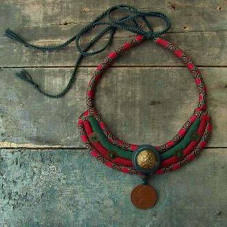 Мягкое шелковое ожерелье Архаичное