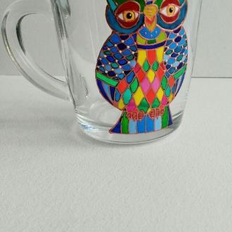 """Чашка  """"Сова"""" 260 мл стекло"""