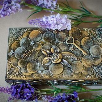 Шкатулка-купюрница ′Gold coins′