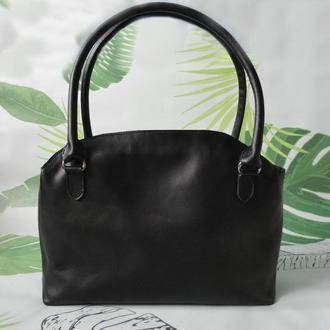 Женская кожаная сумка два отделения